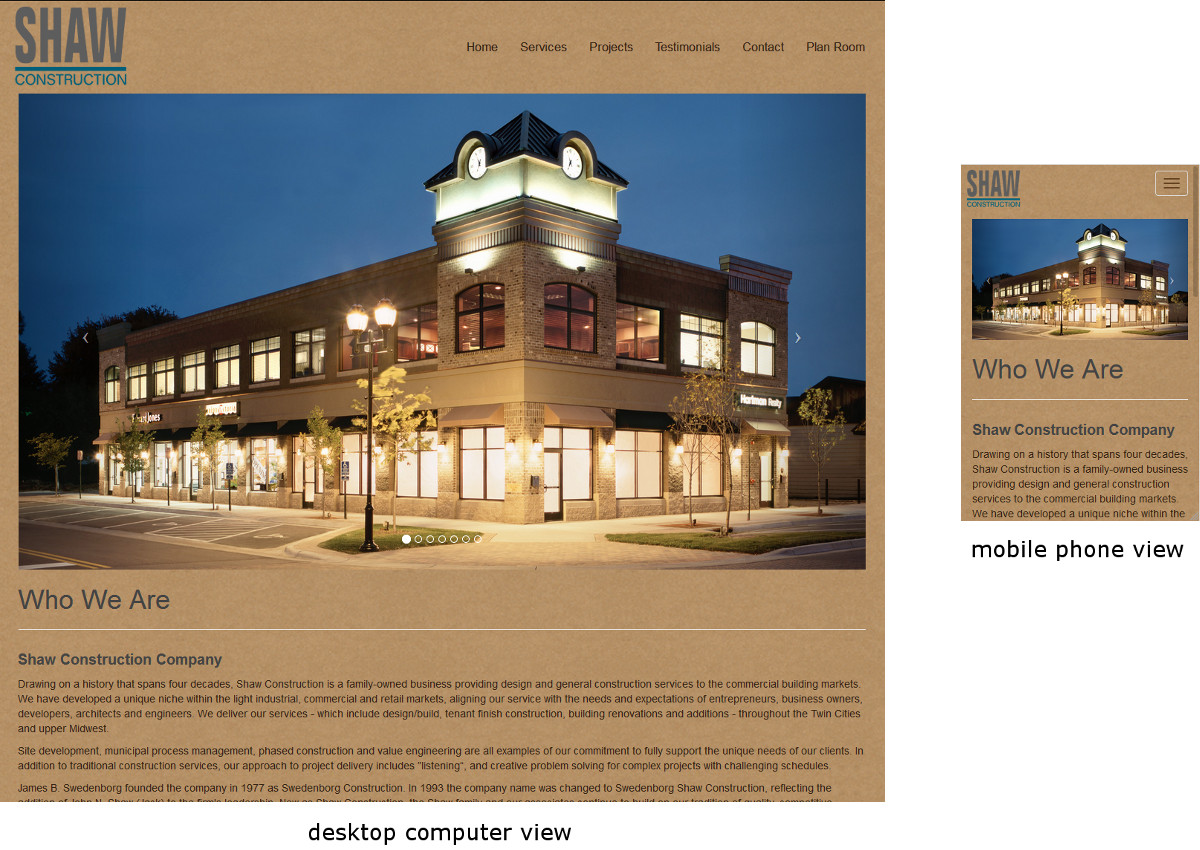 responsive website example